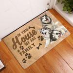 Amazing Alaskan Malamute Family Dog Doormat  Welcome Mat