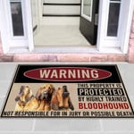 Highly trained bloodhound Dog Funny Outdoor Indoor Wellcome Doormat - Funny Outdoor Indoor Wellcome Doormat