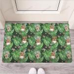 Hawaiian Tropical Pitbull Funny Outdoor Indoor Wellcome Funny Outdoor Indoor Wellcome Doormat