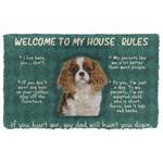 Gearhuman 3D Cavalier King Charles Spaniel Welcome To My House Rules Custom Doormat
