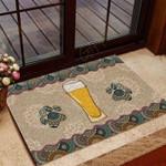 Beer And Paw Funny Outdoor Indoor Wellcome Doormat