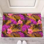 Hibiscus Watercolor Flower Hawaiian Print Funny Outdoor Indoor Wellcome Funny Outdoor Indoor Wellcome Doormat
