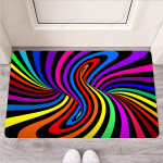 Abstract Colorful Psychedelic Funny Outdoor Indoor Wellcome Funny Outdoor Indoor Wellcome Doormat