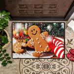 Gingerbread Doormat Holiday Doormat For Outdoor Door Christmas Mat
