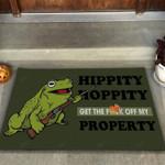Funny Doormat Hippity Hoppity Variable Color Option