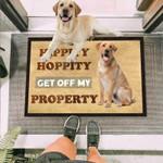 Get Off My Property Labrador Funny Outdoor Indoor Wellcome Doormat