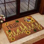 Hello sunshine Dinosaur Doormat  Welcome Mat