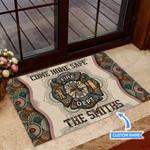 Firefighter Badge Funny Outdoor Indoor Wellcome Doormat