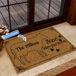 Cow Wipe Your Hooves Funny Outdoor Indoor Wellcome Doormat