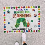 We Are Hungry For Learning Custom Teacher Name Printed Doormat Home Decor