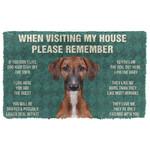 3D Please Remember Azawakh Dogs House Rules Custom Doormat