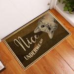 Door Mat Cat Nice Underwear