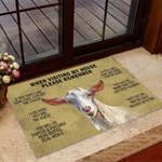 Goat - When visiting my house Funny Outdoor Indoor Wellcome Doormat