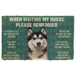 3D Please Remember Husky Dogs House Rules Doormat
