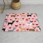 Chihuahua love hearts cupcakes valentines day gift for chiwawa lovers Funny Outdoor Indoor Wellcome Doormat