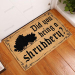Did You Bring A Shrubbery Doormat  Welcome Mat  House Warming Gift