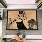 Funny Quote Dogs and Black Cats Funny Outdoor Indoor Wellcome Doormat