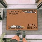 Cats Crossing Funny Outdoor Indoor Wellcome Doormat