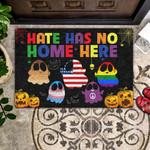 Hate Has No Home Here All Over Printing Funny Outdoor Indoor Wellcome Doormat