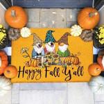 Dogs Happy Fall Funny Outdoor Indoor Wellcome Doormat