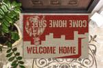 Firefighter Welcome Home Customized Funny Outdoor Indoor Wellcome Doormat