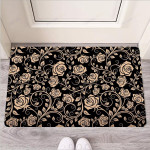 Gold Rose Floral Funny Outdoor Indoor Wellcome Funny Outdoor Indoor Wellcome Doormat