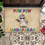 Lovers  Door Mat Pew Pew Madafakas
