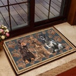 English Cocker Spaniel Floral Paw - Dog Doormat  Welcome Mat