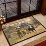 Cow Gate Open Doormat  Welcome Mat