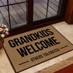 Family Doormat Grandkids Welcome Others Tolerate  Welcome Mat  House Warming Gift