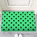 Green Polka Dot Funny Outdoor Indoor Wellcome Funny Outdoor Indoor Wellcome Doormat