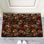 Gun Rose Skull Funny Outdoor Indoor Wellcome Funny Outdoor Indoor Wellcome Doormat