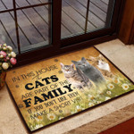 Cat Lovers Doormat In This House The Cat Are The Part Of the Family