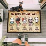 Dorbeman Dog Horror Squad Funny Outdoor Indoor Wellcome Doormat