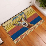 Goat Welcome To Maaa House Funny Outdoor Indoor Wellcome Doormat