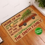 Home Of The Jolliest Brunch Personalized Coir Pattern All Gates All Over Printing Funny Outdoor Indoor Wellcome Doormat