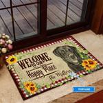Black Labrador Happy Place Funny Outdoor Indoor Wellcome Doormat