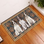 English Springer Spaniel Floral Paw - Dog Doormat  Welcome Mat