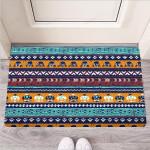 Colorful Neon Ethic Aztec Maya Print Funny Outdoor Indoor Wellcome Funny Outdoor Indoor Wellcome Doormat