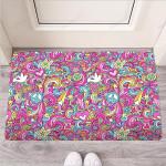 Abstract Hippie Funny Outdoor Indoor Wellcome Funny Outdoor Indoor Wellcome Doormat