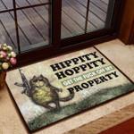 Cat Lovers  Door Mat    Hippity Hoppity Get Off Our Property V1