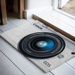 Camera Canon White Funny Outdoor Indoor Wellcome Doormat