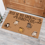 Cool Cat Just So You Know Theres Like A Bunch Of Cat In There Funny Outdoor Indoor Wellcome Doormat