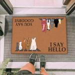 Cats Looking Funny Outdoor Indoor Wellcome Doormat