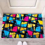 Abstract Psychedelic Graffiti Funny Outdoor Indoor Wellcome Funny Outdoor Indoor Wellcome Doormat