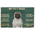 3D Pugs Rules Doormat