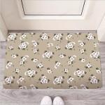 Cute Floral Flower Print Funny Outdoor Indoor Wellcome Funny Outdoor Indoor Wellcome Doormat