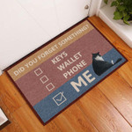 Cute Cat Did You Forget Something Indoor Doormat  Welcome Mat