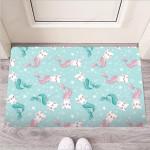 Cute Cat Mermaid Print Funny Outdoor Indoor Wellcome Funny Outdoor Indoor Wellcome Doormat