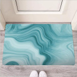 Green Ink Marble Funny Outdoor Indoor Wellcome Funny Outdoor Indoor Wellcome Doormat